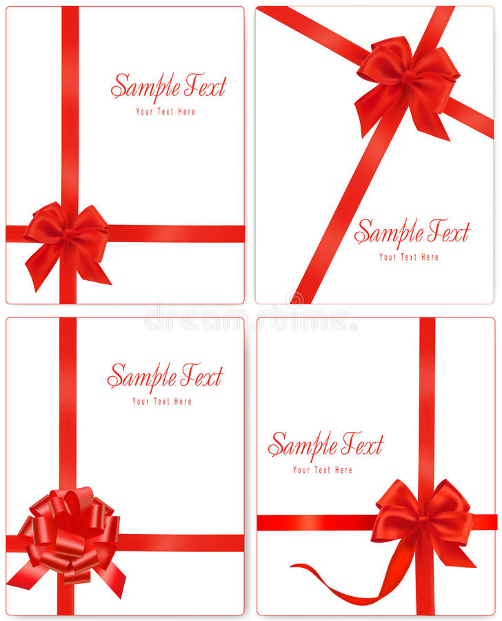 Download Vector Illustration. Collection Of Red Gift Bows Stock Photography - Image: 21560552