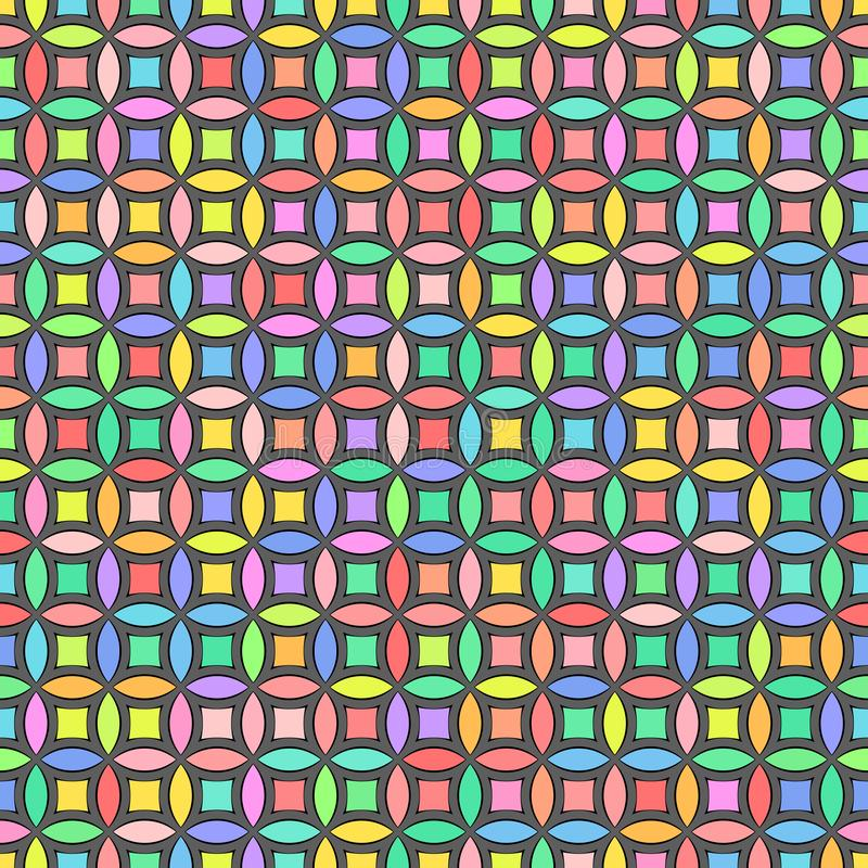 Vector illustration - Colorful abstract geometric seamless pattern stock photos