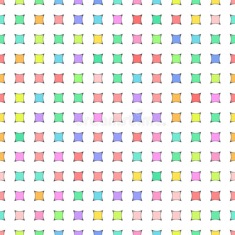 Vector illustration - Colorful cute abstract geometric seamless pattern royalty free illustration