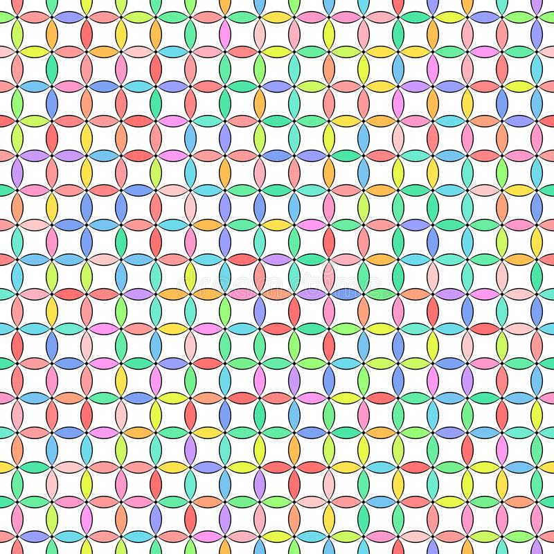 Vector illustration - Colorful cute abstract geometric seamless pattern royalty free stock images