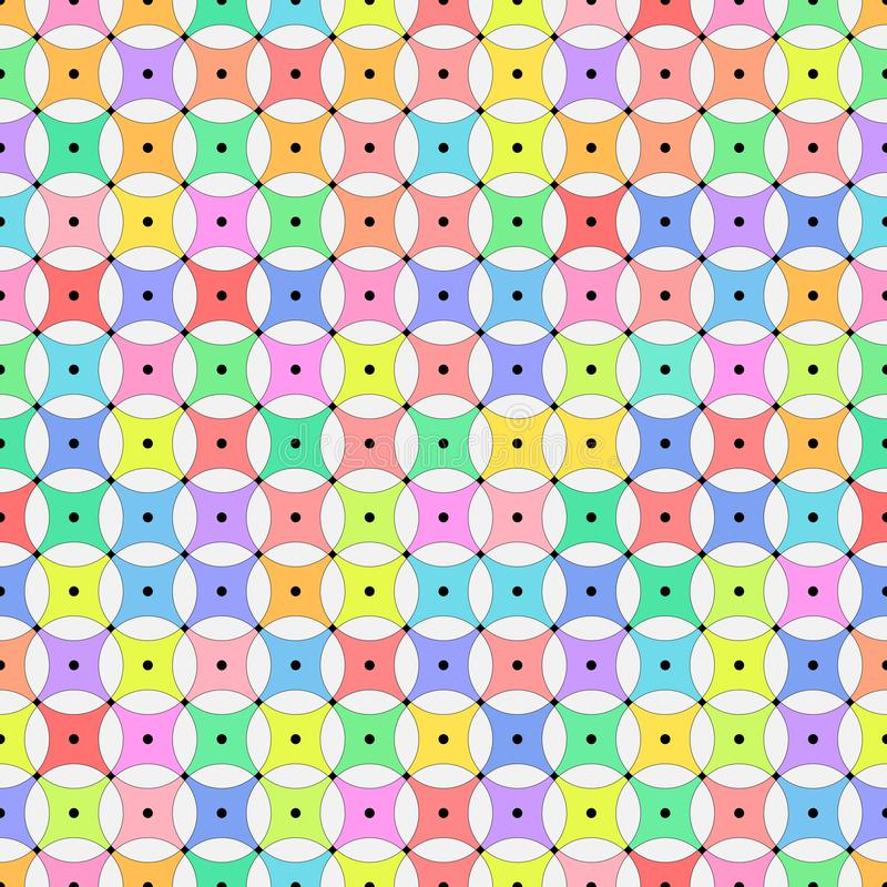 Vector illustration - Colorful cute abstract geometric seamless pattern stock images