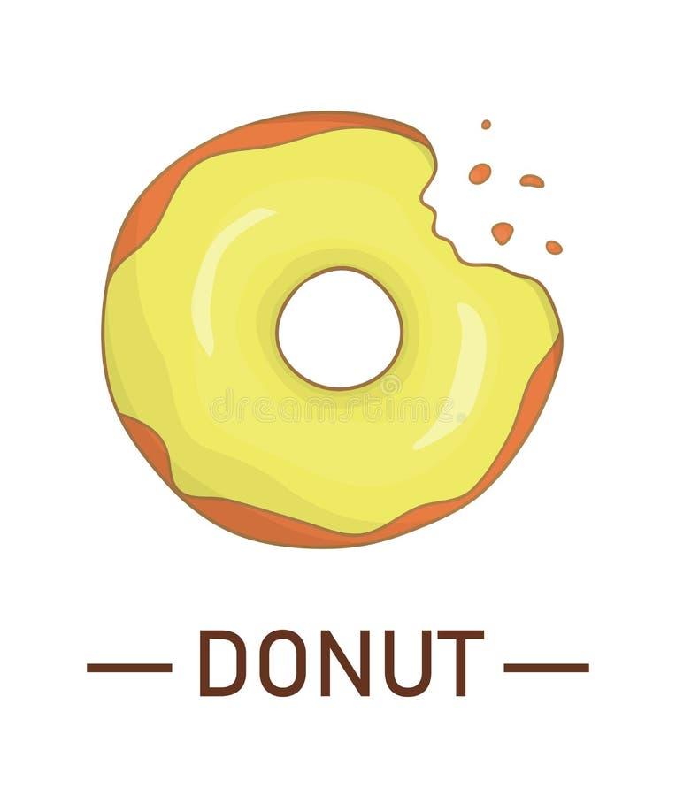 Vector illustration of colorful doughnut royalty free illustration