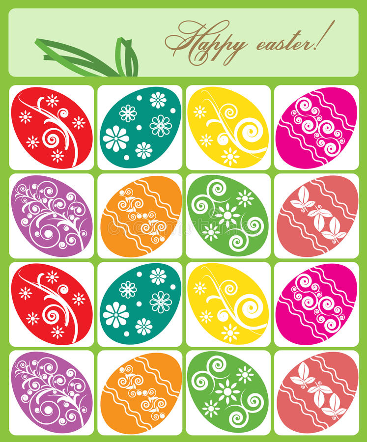 Vector illustration. Colorful Easter Eggs vector illustration