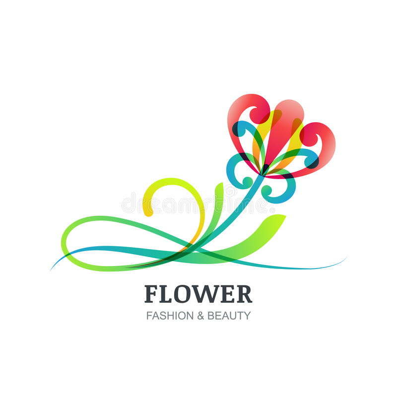 Vector illustration of colorful exotic flower stock for Abstract beauty salon