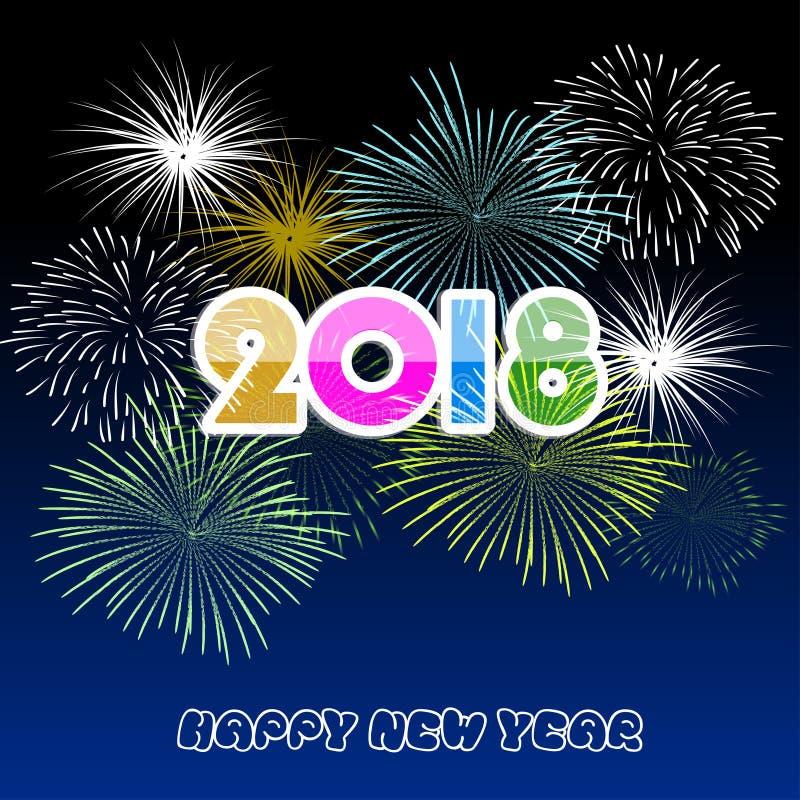 Vector illustration of Colorful fireworks. Happy new year 2018 theme. Vector illustration of Colorful fireworks. Happy new year 2018 vector illustration