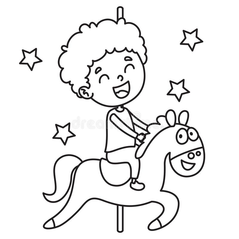 Vector Illustration Of Coloring Page vector illustration
