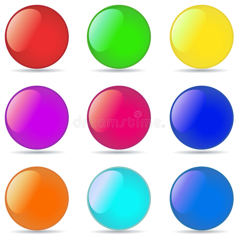 Download Vector Illustration Of Coloured Glossy Stock Vector - Image: 41548529