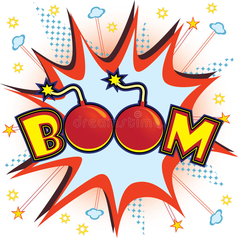 Boom explosion. Vector illustration of a comic book-like boom explosion vector illustration