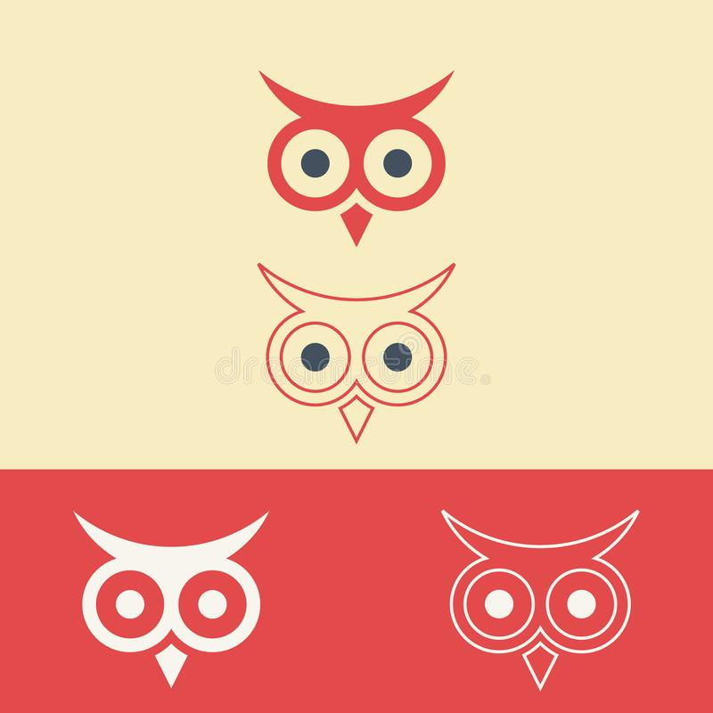 Vector illustration of a company logo with an owl design to illustrate wisdom vector illustration