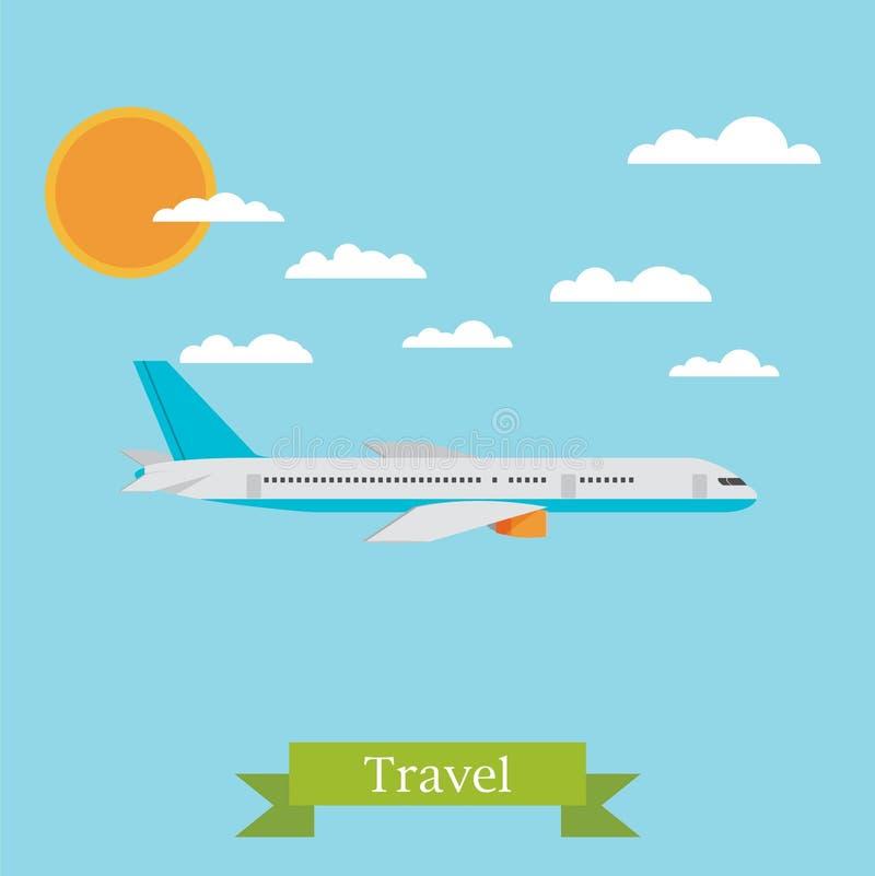 Vector illustration concept of airplane. Modern flat design vector illustration