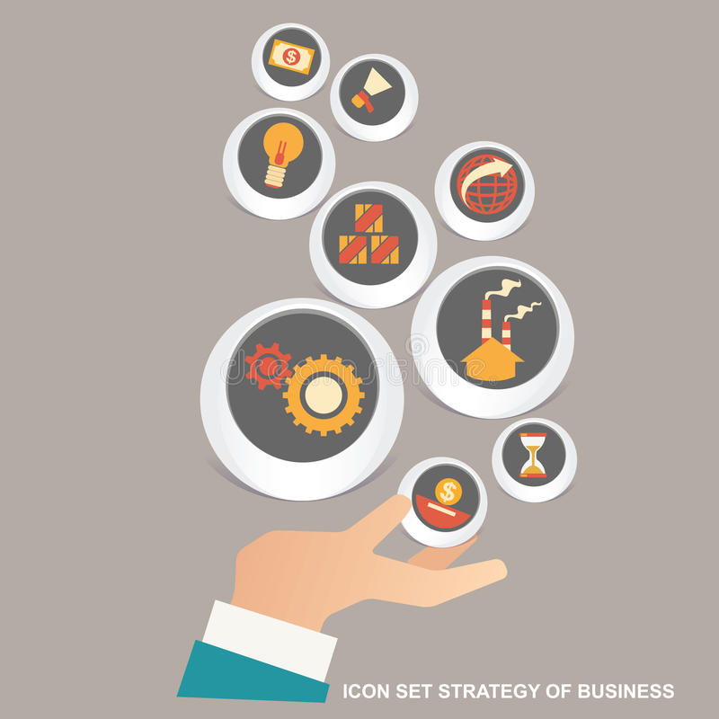 Vector illustration concept for business strategy and industrial planning. Business Plan royalty free stock photos