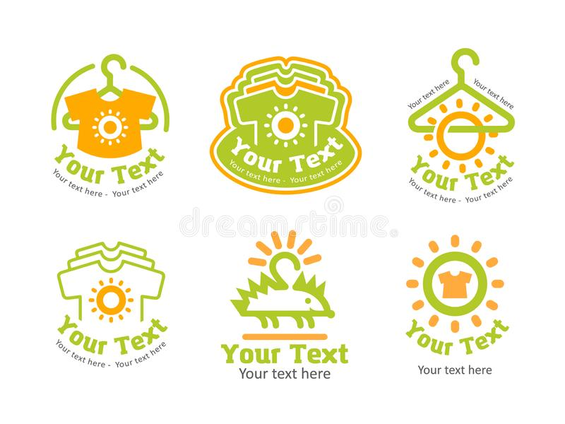 Vector illustration concept of clothes logo. Icon on white background. Vector illustration concept of clothes logo vector illustration