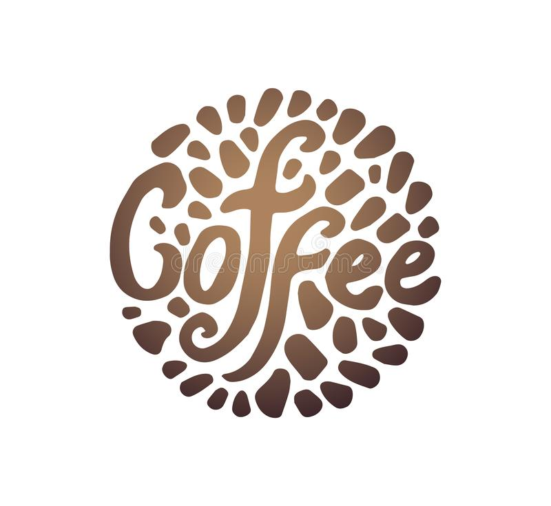 Vector illustration concept of Coffee circle illustration on white background vector illustration