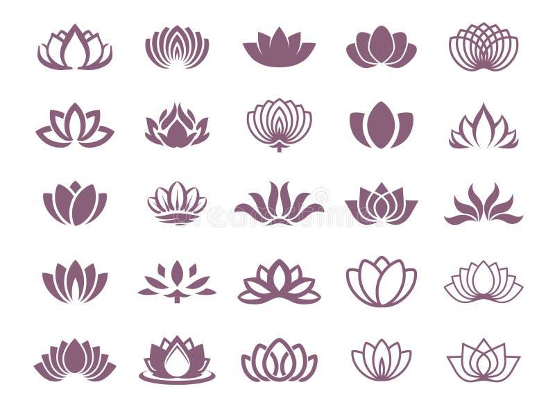 Vector illustration concept of a lotus logo. Icon on color background. Vector illustration concept of a lotus logo royalty free illustration