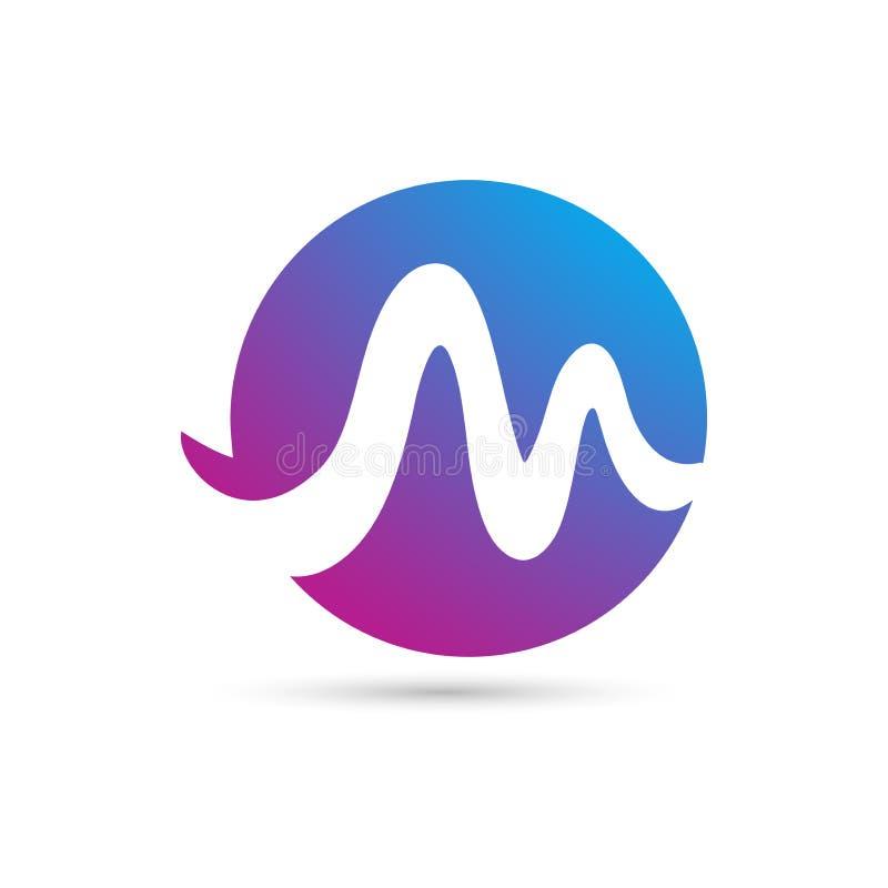 Vector illustration concept of M letter logo symbol. Colorful on white background. Vector illustration concept of M letter logo symbol stock illustration