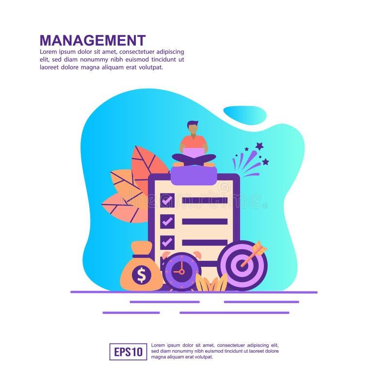 Vector illustration concept of management. Modern illustration conceptual for banner, flyer, promotion, marketing material, online stock illustration