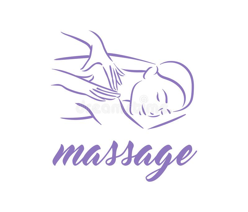 Vector illustration concept of Massage body relax symbol icon on white background. Vector illustration concept of Massage body relax symbol icon royalty free illustration