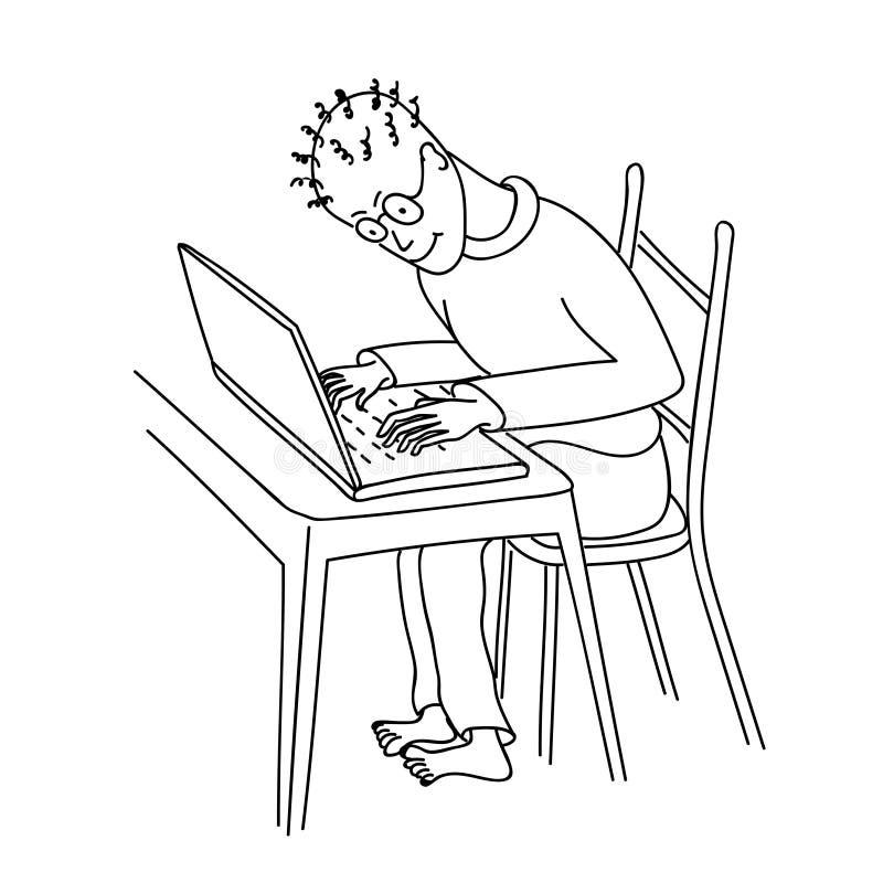 Hand drawn hacker royalty free stock image