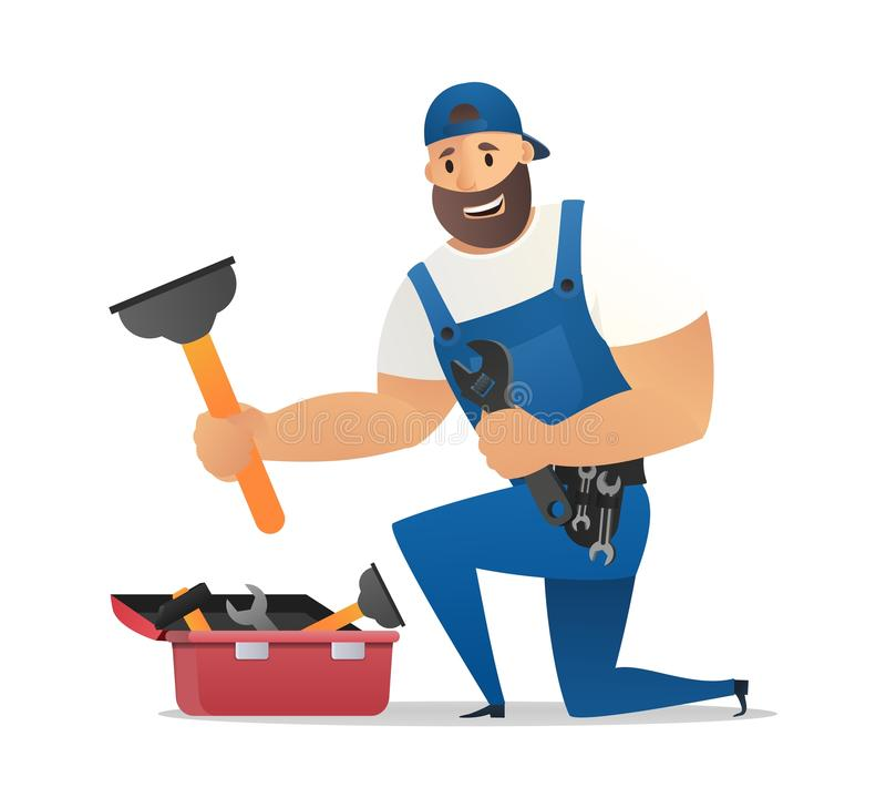 Vector Illustration Concept Plumber Service vector illustration