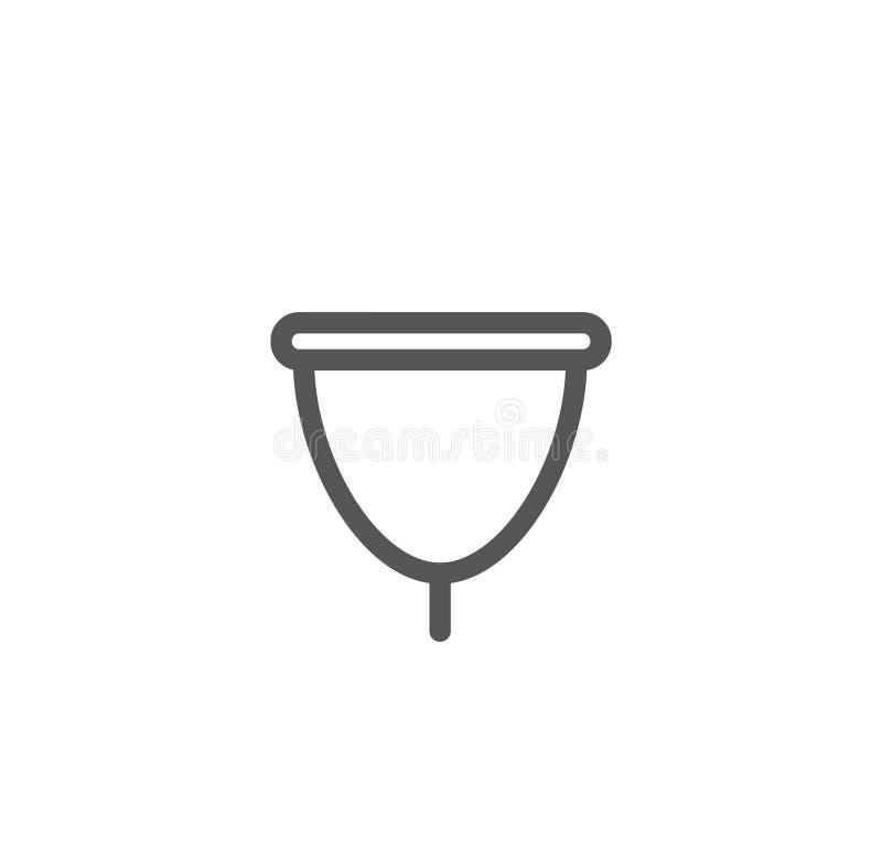 Vector illustration concept of Women menstrual cup symbol icon. Vector illustration concept of Women menstrual cup symbol royalty free illustration