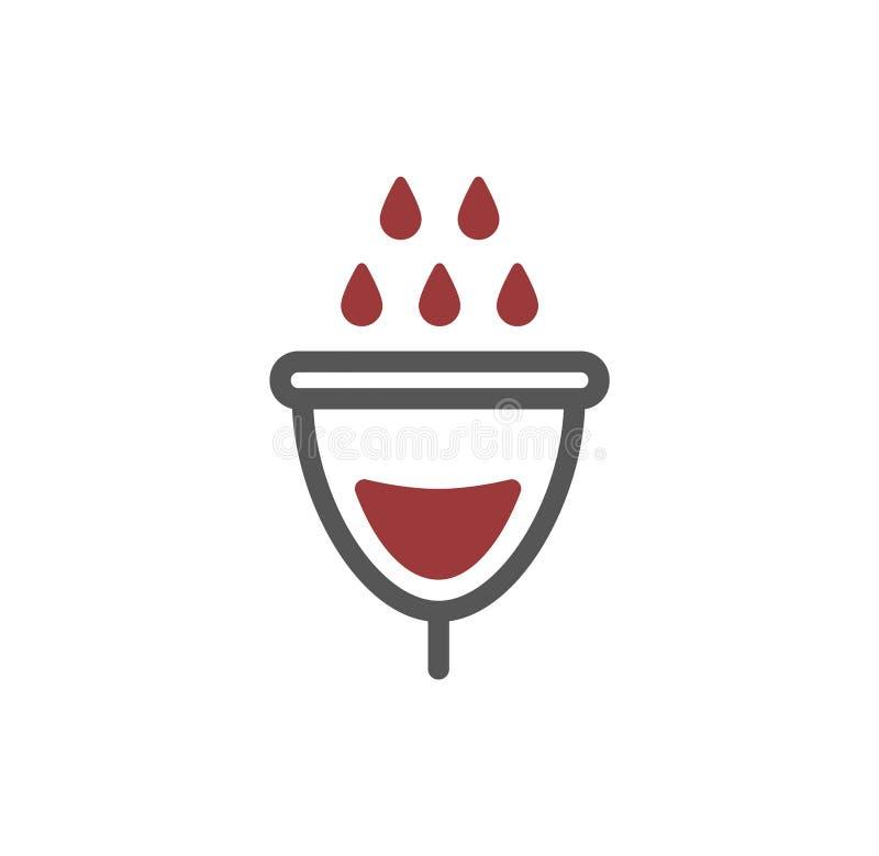 Vector illustration concept of Women menstrual cup icon symbol. Vector illustration concept of Women menstrual cup vector illustration