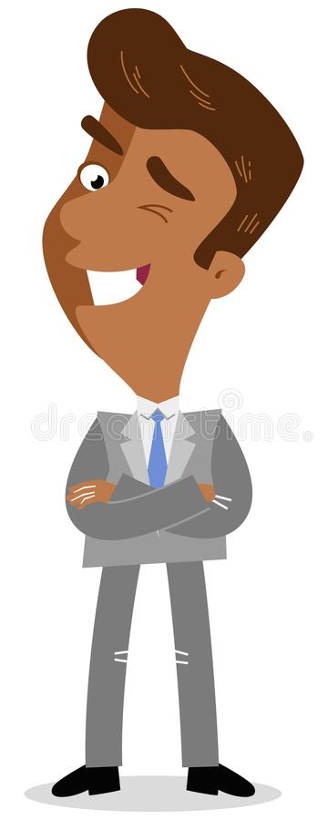 Friendly Businessman Crossed Arms Stock Illustrations 22