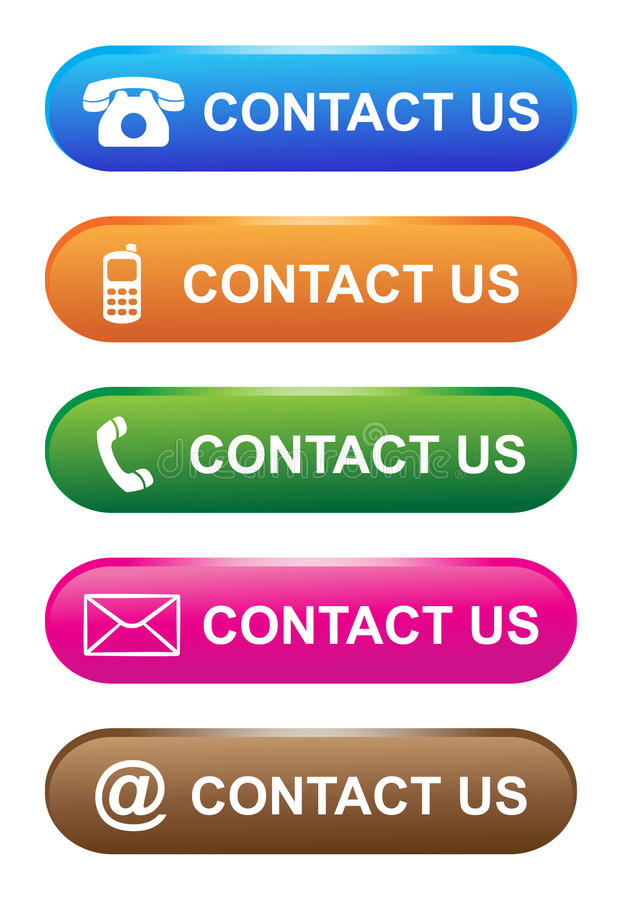 Free Vector Illustration Contact Us Icon Web Button Stock Photography - 24835352
