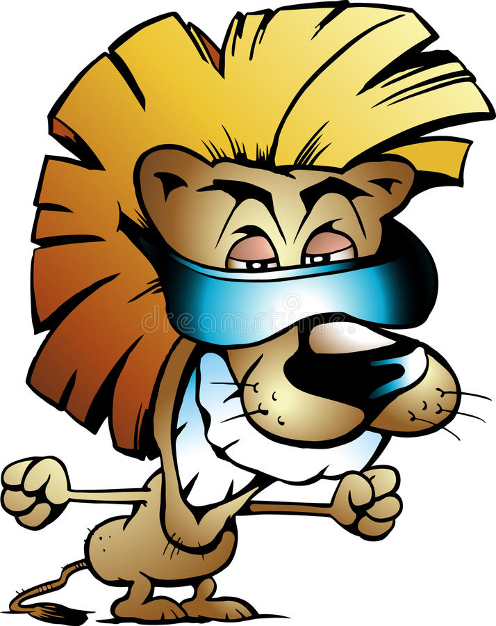Download Vector Illustration Of An Cool Lion King Royalty Free Stock Image - Image: 22079886
