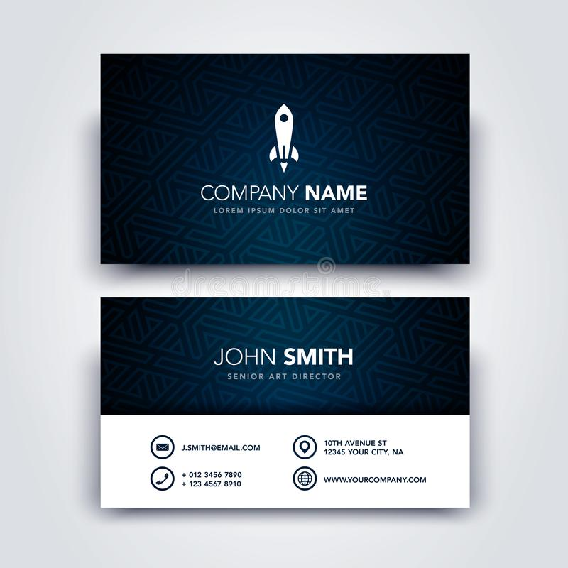 Vector Illustration Modern Creative Dark and Clean Business Card Template - Front and Backside royalty free illustration