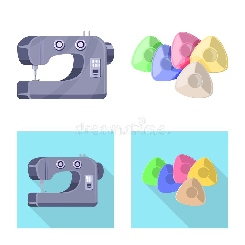Vector illustration of craft and handcraft icon. Set of craft and industry vector icon for stock. Isolated object of craft and handcraft symbol. Collection of stock illustration