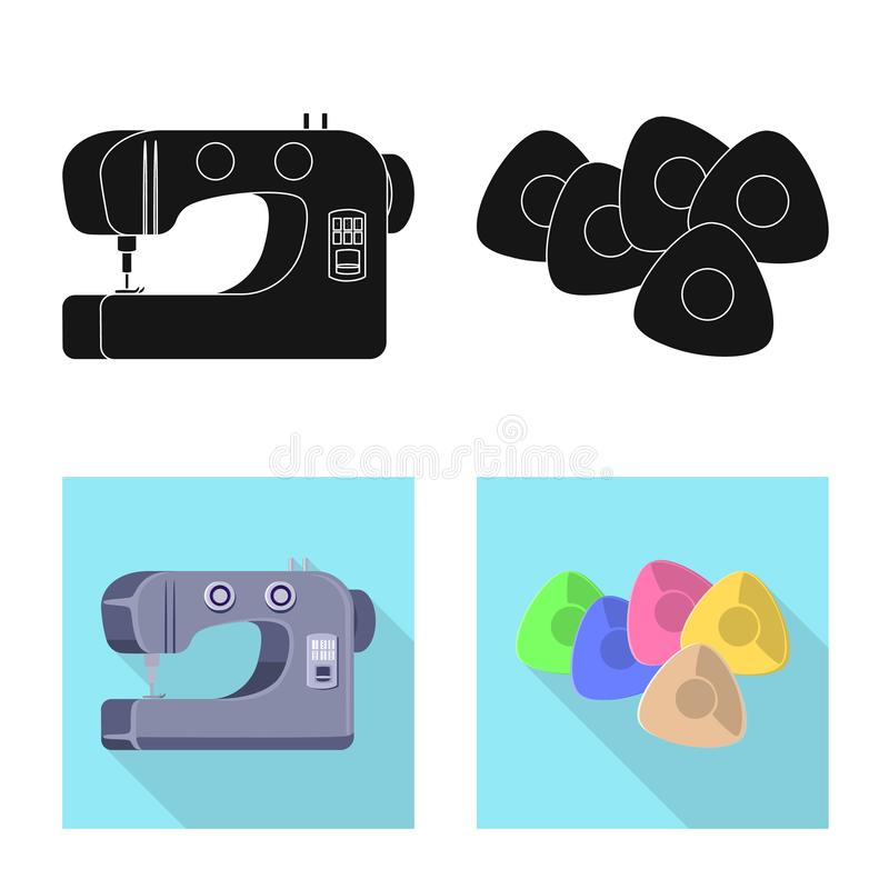 Vector illustration of craft and handcraft sign. Set of craft and industry stock vector illustration. Isolated object of craft and handcraft logo. Collection of vector illustration