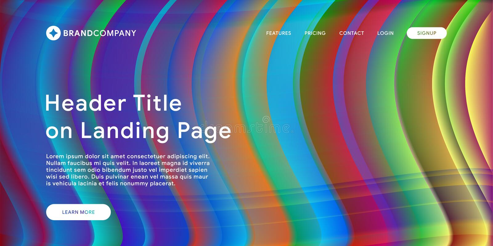 Website or mobile app landing page with illustration of Abstract Colorful Minimal Geometric Pattern Background Design and Gradient. Vector illustration of stock photos