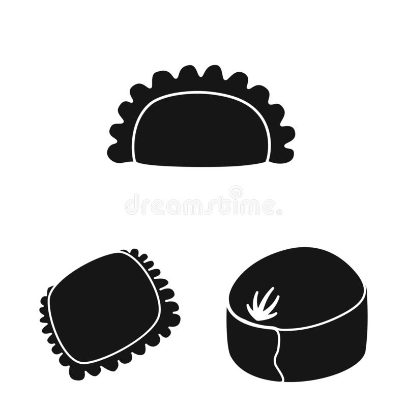 Vector design of cuisine and appetizer icon. Collection of cuisine and food stock symbol for web. royalty free stock images
