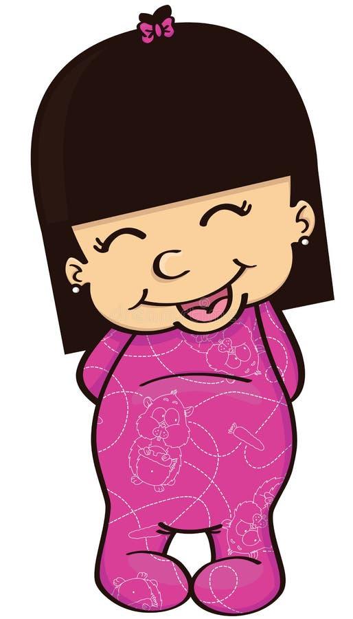 Download Baby girl stock vector. Illustration of brunette, oriental - 29854384
