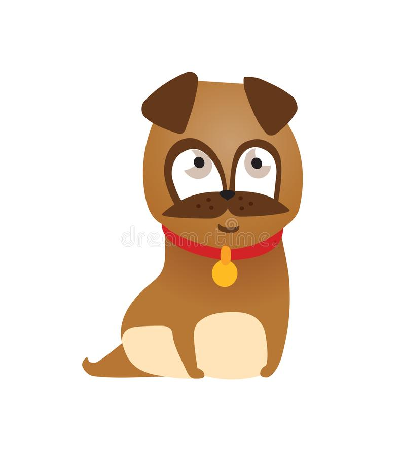Vector illustration of cute and funny cartoon puppy activity. royalty free illustration