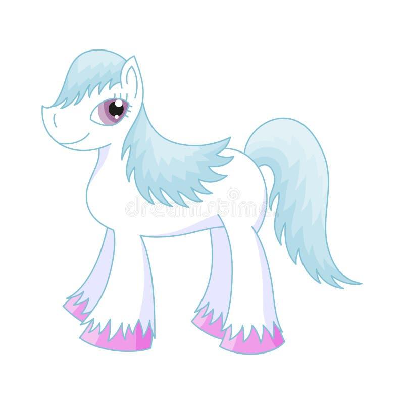 Vector illustration of cute horse, romantic pony stock illustration