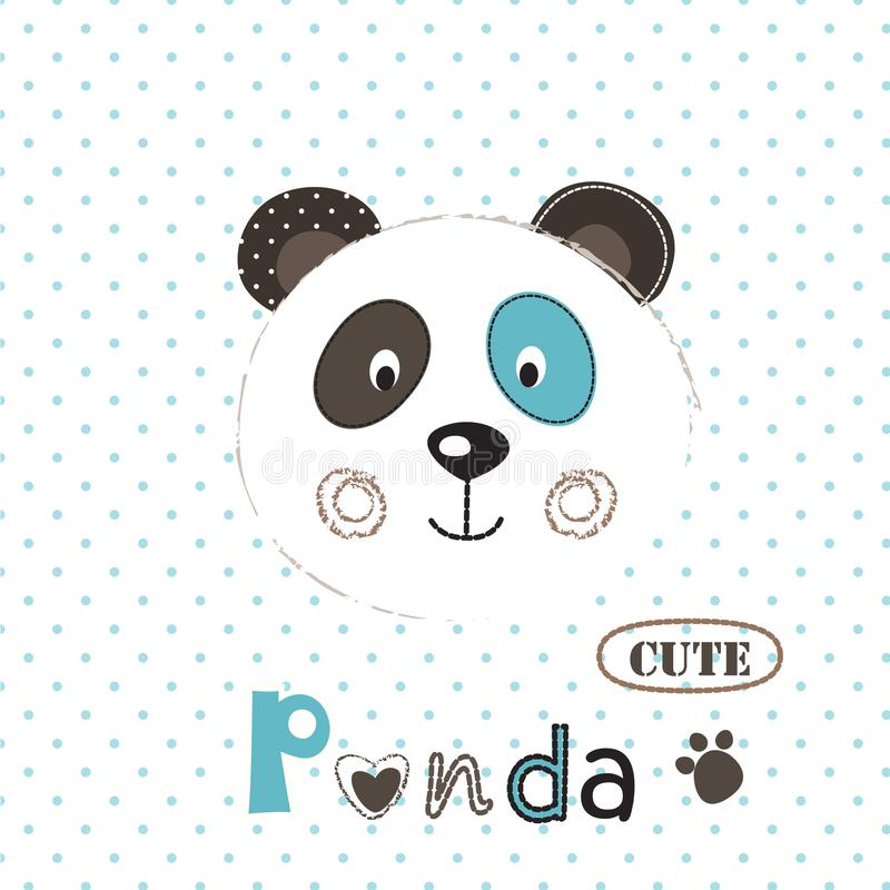 Vector illustration with cute panda royalty free illustration