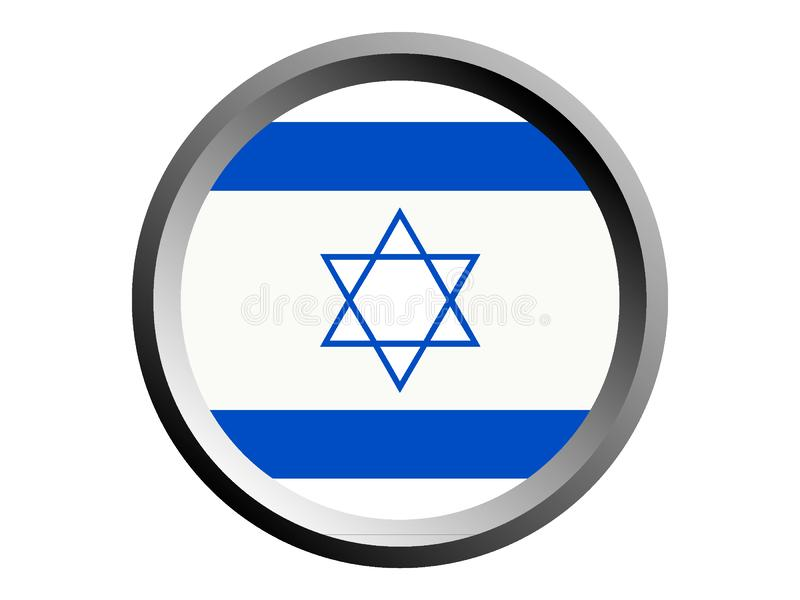 3D Round Flag of Israel. Vector illustration of the 3D Round Flag of Israel royalty free illustration