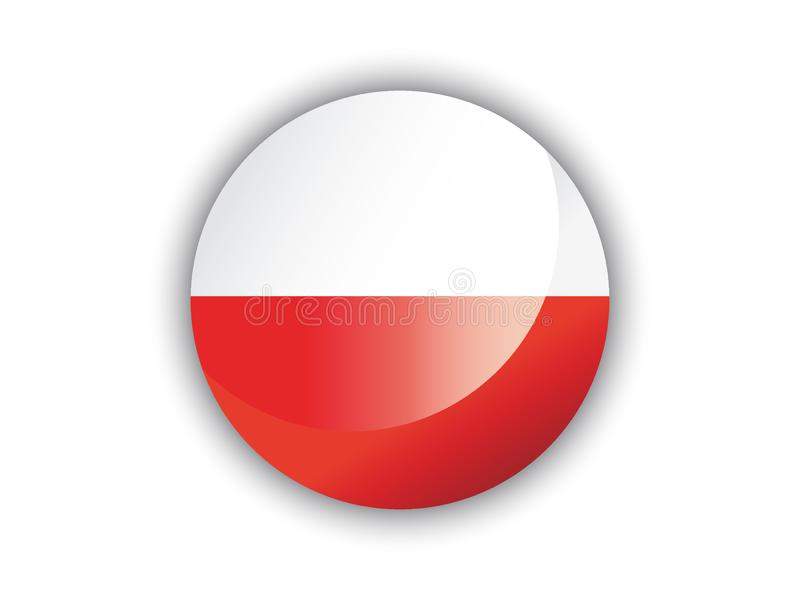 3D Round Flag of Poland. Vector illustration of the 3D Round Flag of Poland royalty free illustration