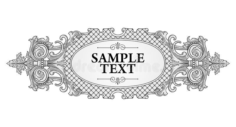 Download Decoration frame stock vector. Image of stencil, award - 30136231