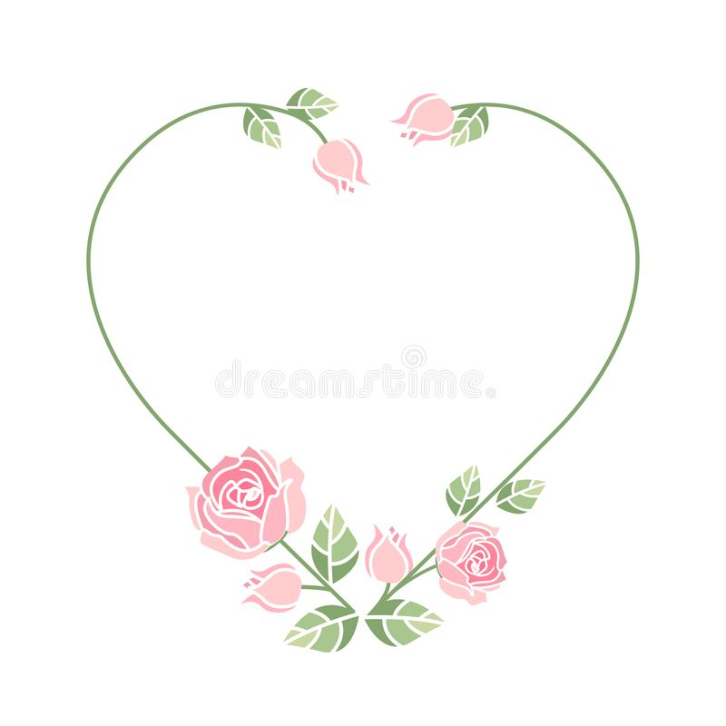 Background with pink roses vector illustration