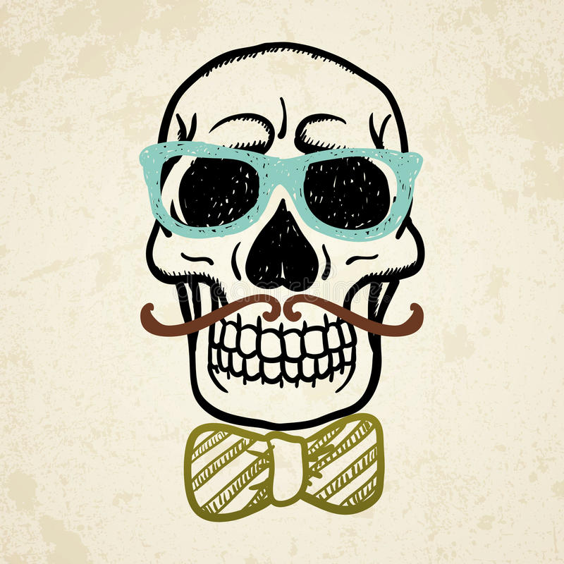 Vector illustration of decorative skull