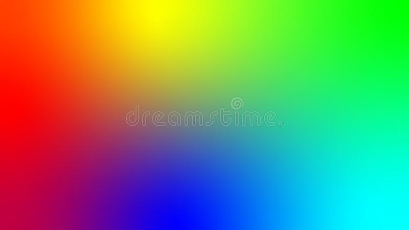 Vector illustration depicting all the colors of the rainbow and the rest of their possible options. Background image. A smooth royalty free illustration