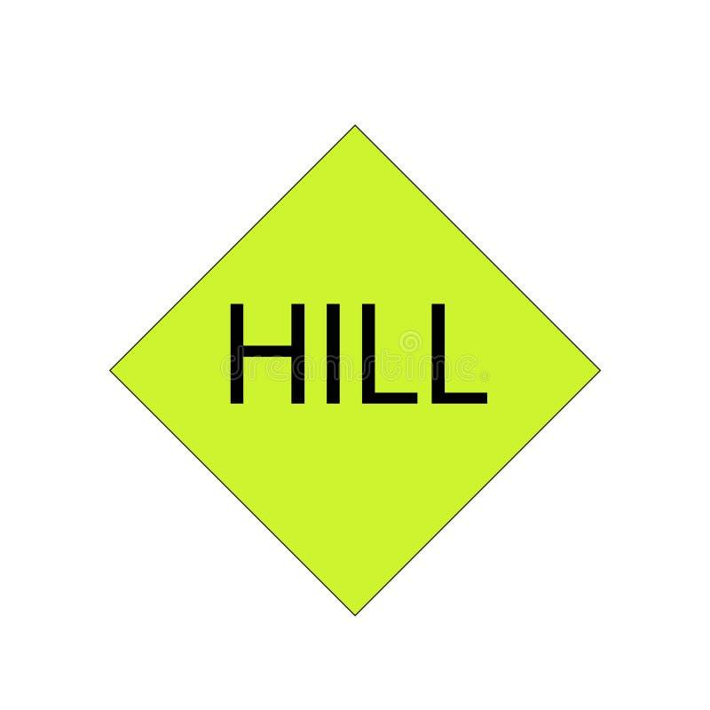 HILL road sign vector. Vector illustration depicting a road sign vector illustration