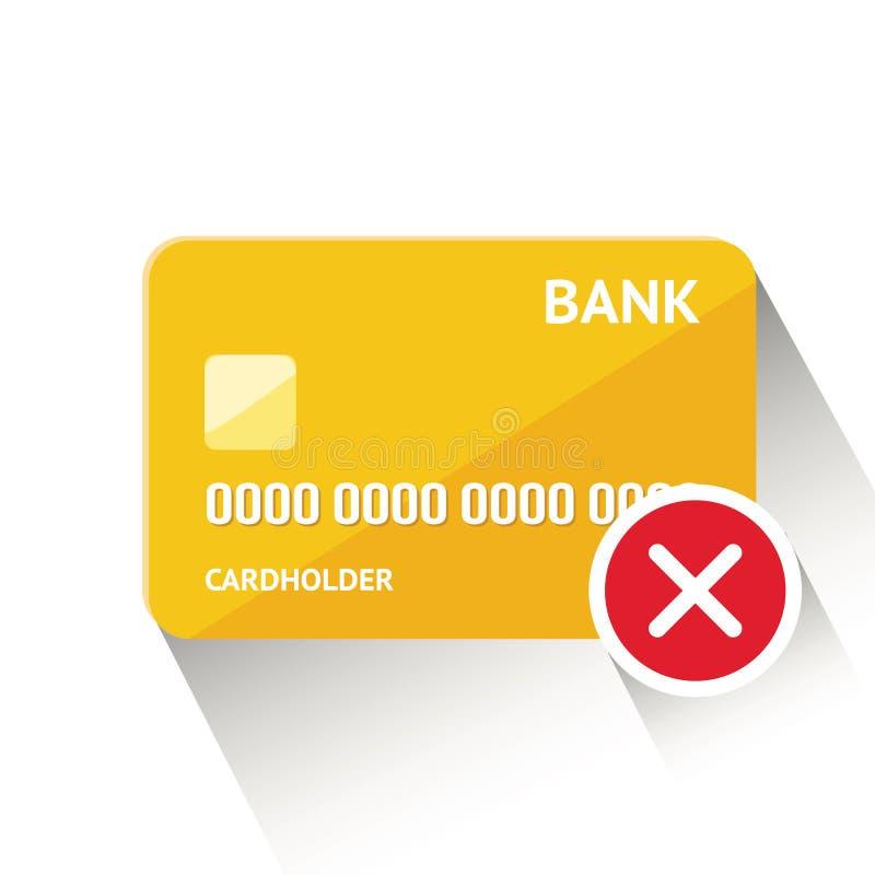 Vector Illustration der ausf?hrlichen goldenen Kreditkarte, die auf wei?em Hintergrund lokalisiert wird stockbilder