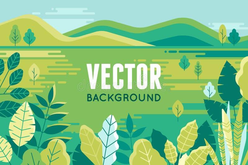 Vector Illustration in der modischen flachen und linearen Art - Hintergrund stock abbildung