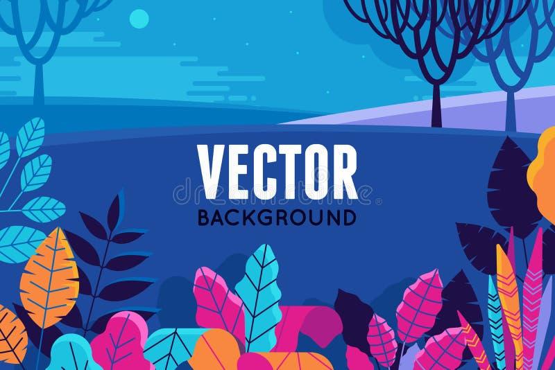 Vector Illustration in der modischen flachen und linearen Art - Hintergrund lizenzfreie abbildung