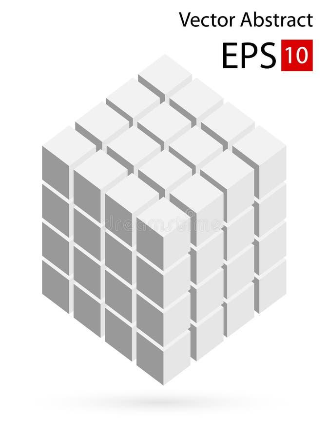 Vector Illustration der Würfel 3d lizenzfreie abbildung