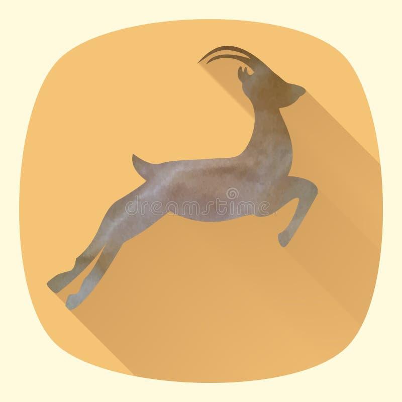 Vector Illustration der Ziege, Symbol von 2015 auf dem Chinesen calen vektor abbildung