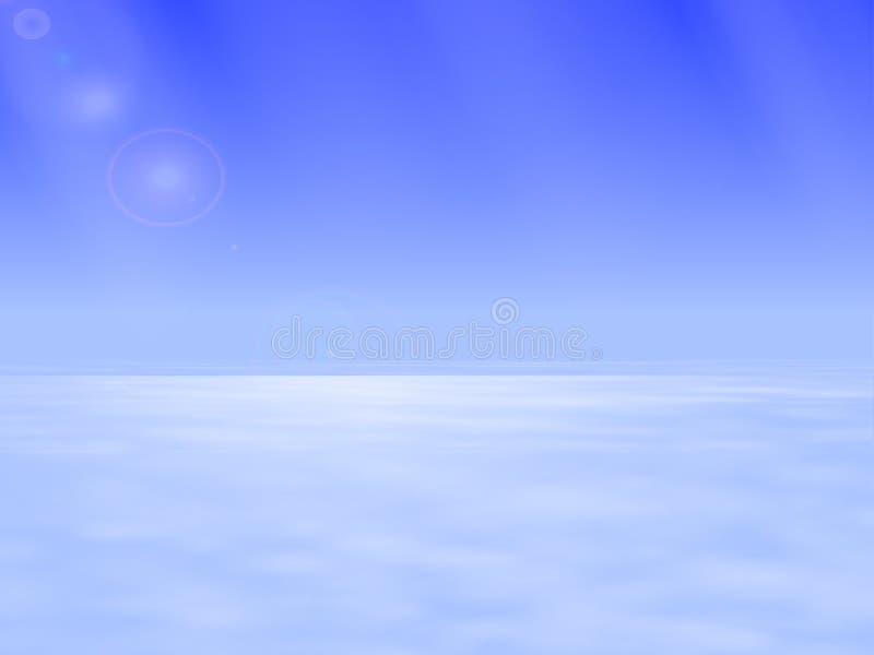 Vector Illustration des atmosphärischen Raumes über den Wolken vektor abbildung